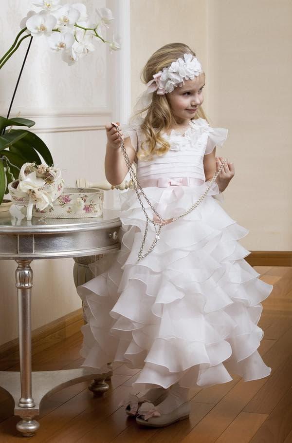 Элегантное платье для девочки 5 лет на свадьбу