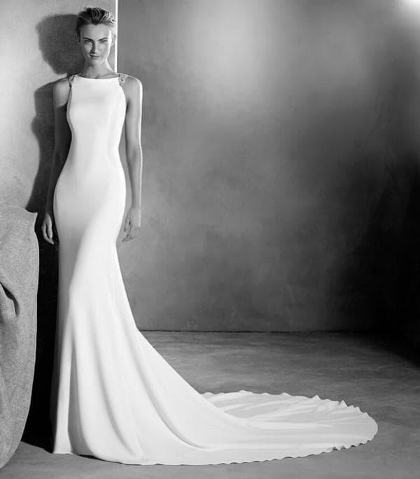 Длинное свадебное платье высокая мода 2017