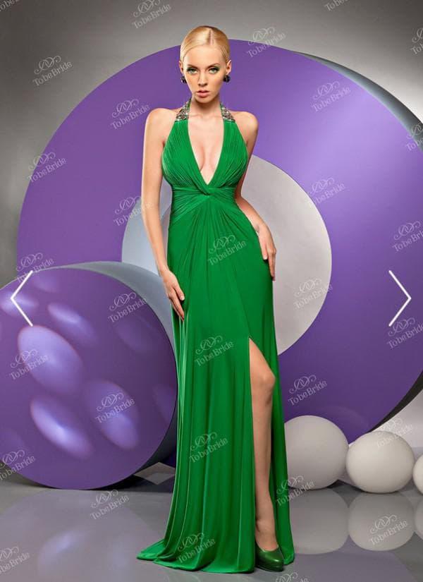 Открытое вечернее платье в пол