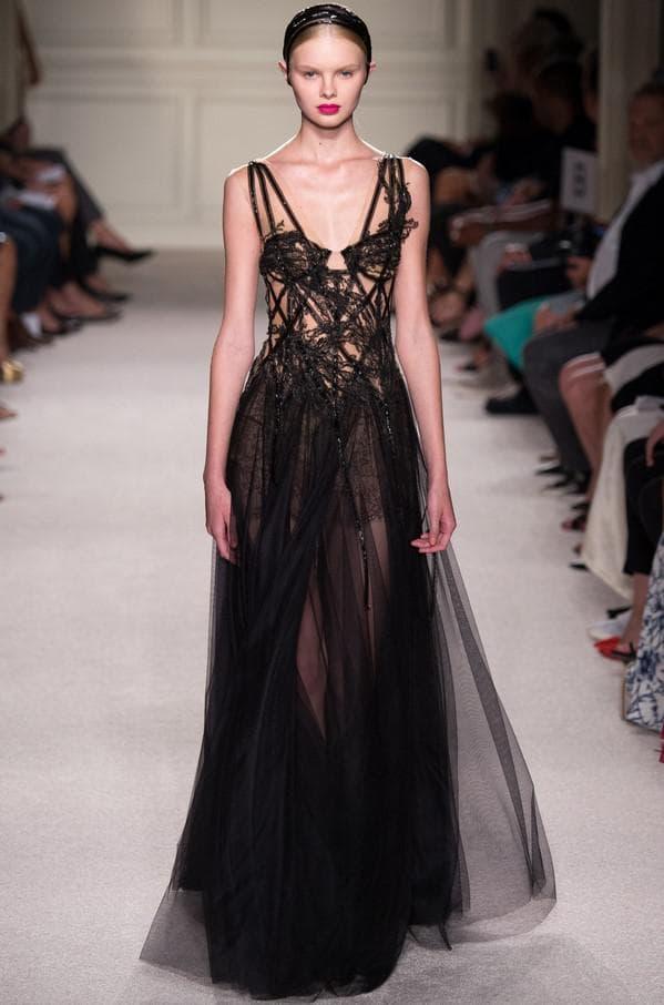 Чёрное вечернее платье от кутюр