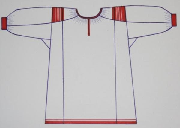 Выкройка штапельного платья в русском стиле