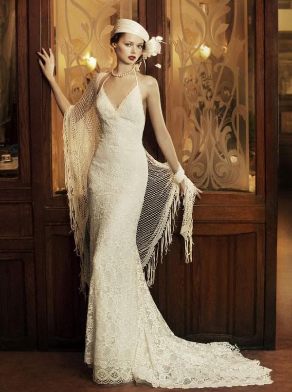Дизайнерское свадебное платье в ретро стиле