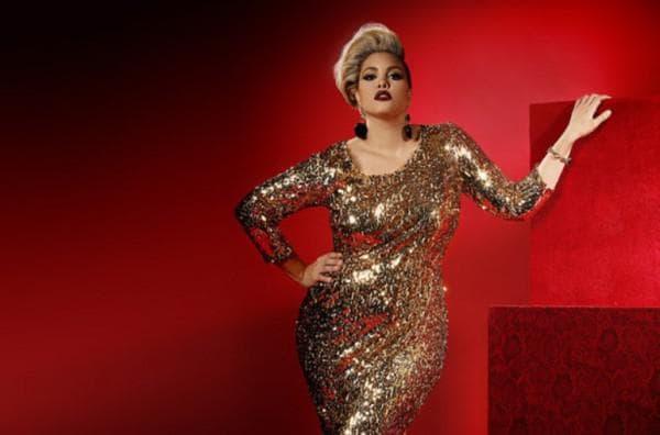 Золотое платье для полной девушки