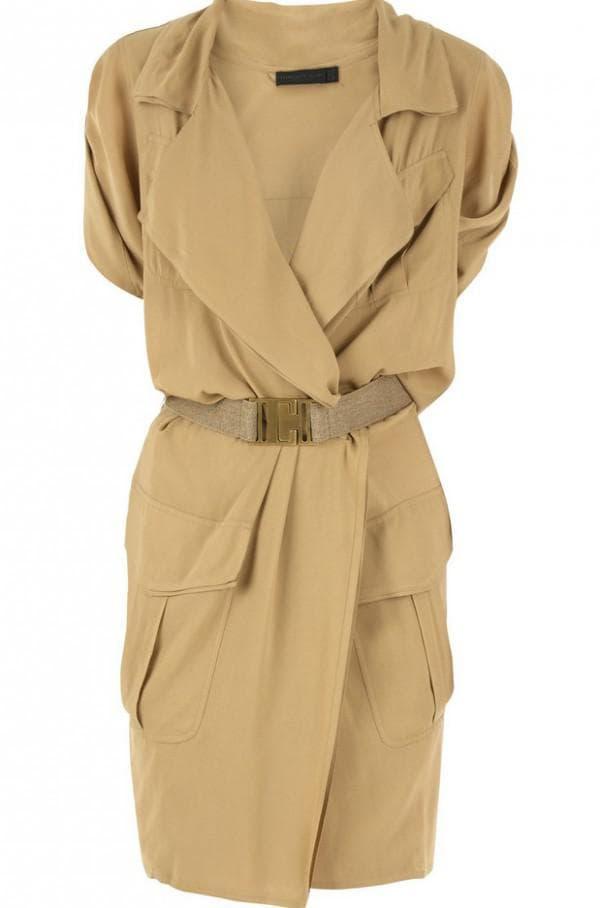 Платье халат в стиле сафари для полных девушек
