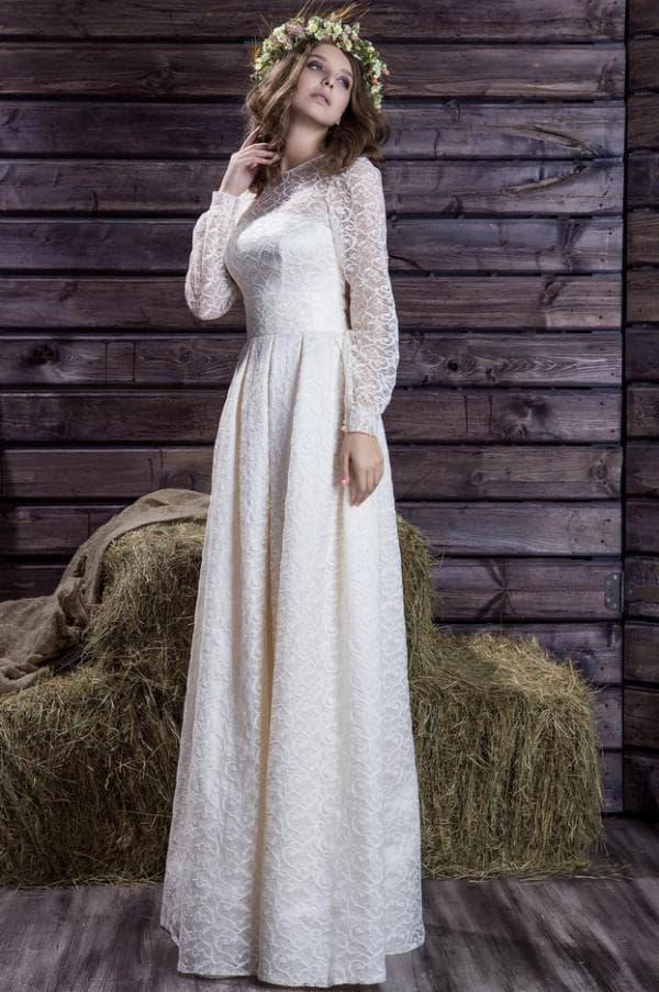 Свадебное платье в рустикальном стиле