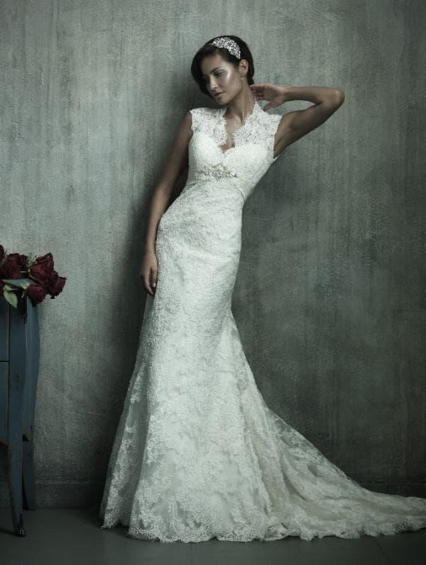 Круженое свадебное платье в стиле винтаж
