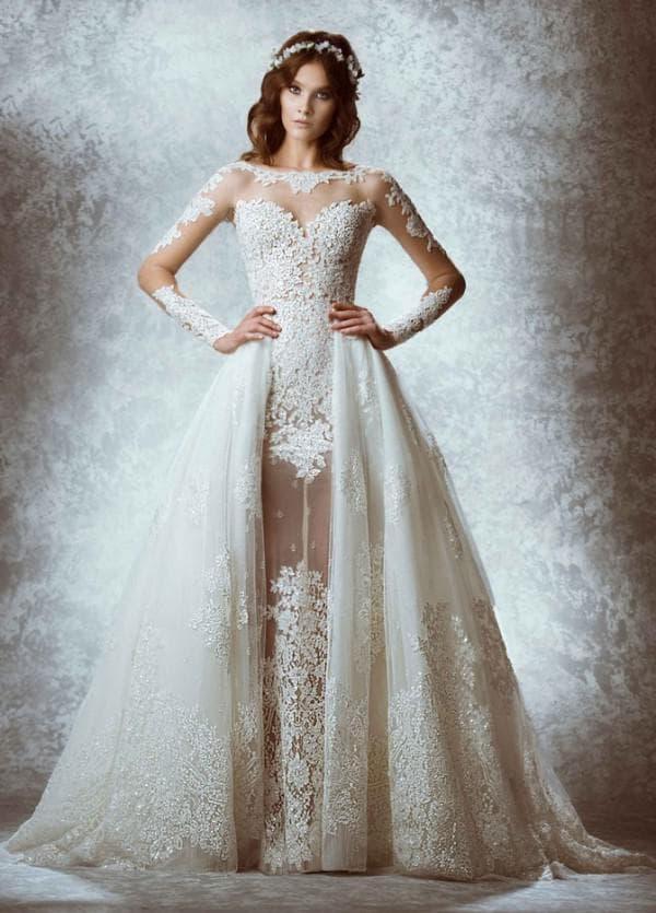 Красивое свадебное платье трансформер длинное