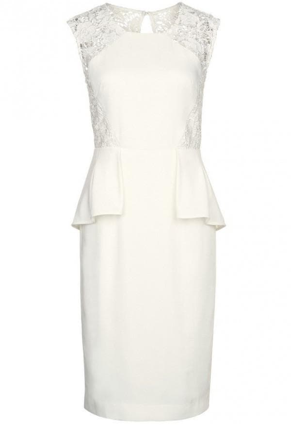 Платье миди для невесты с баской