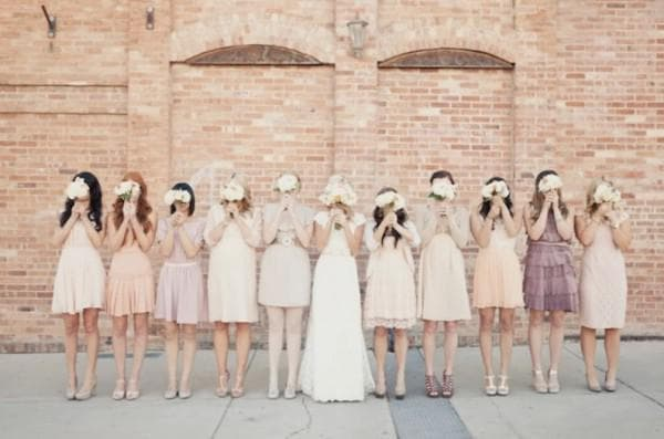 Платья в винтажном стиле для подруг невесты