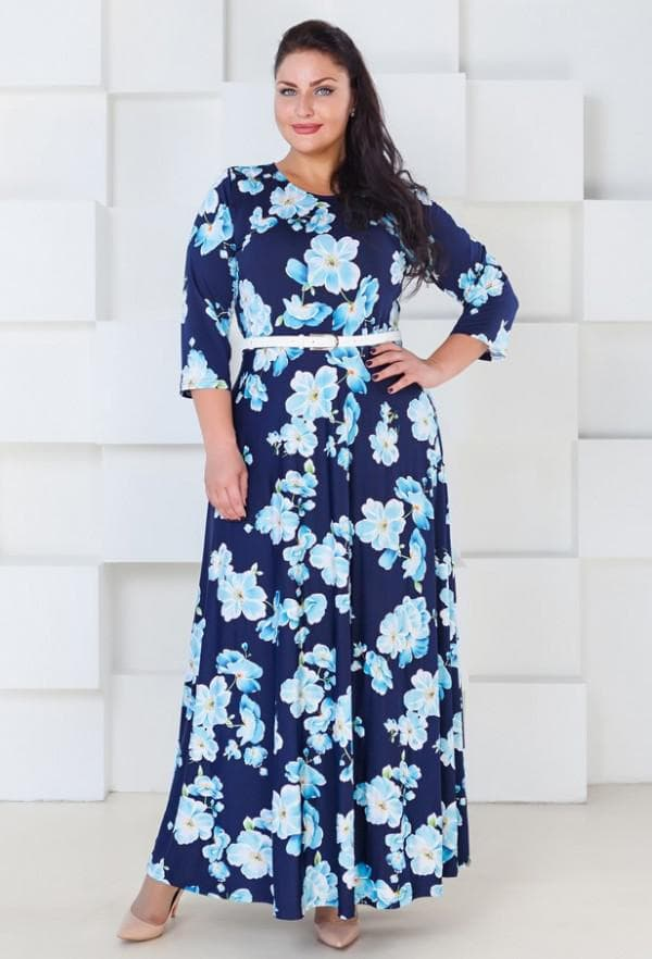 Повседневное платье в пол большого размера