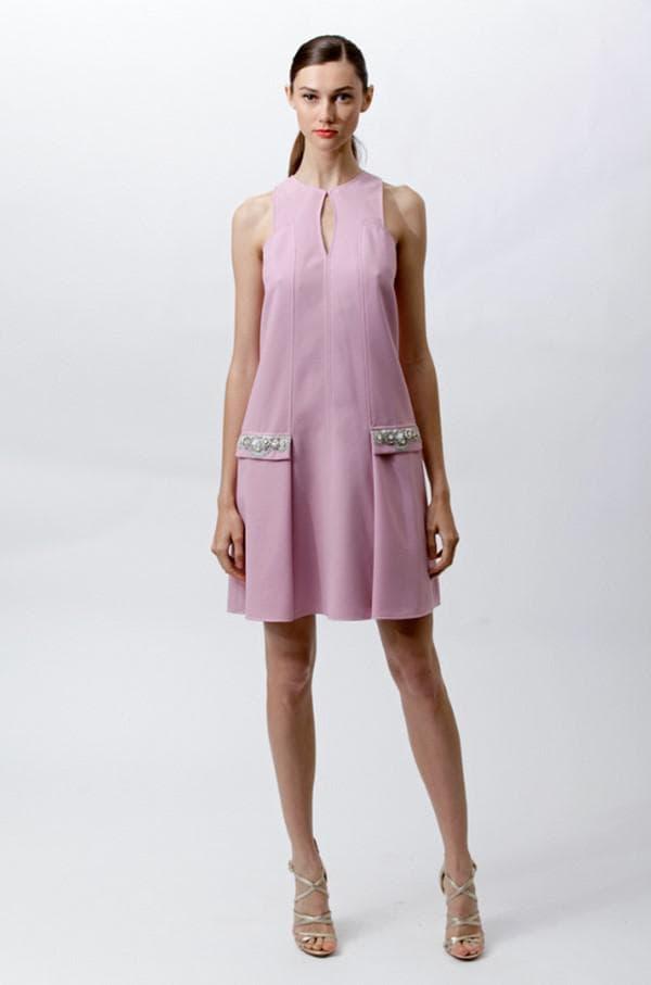 Платье прямого кроя для женщин с животиком