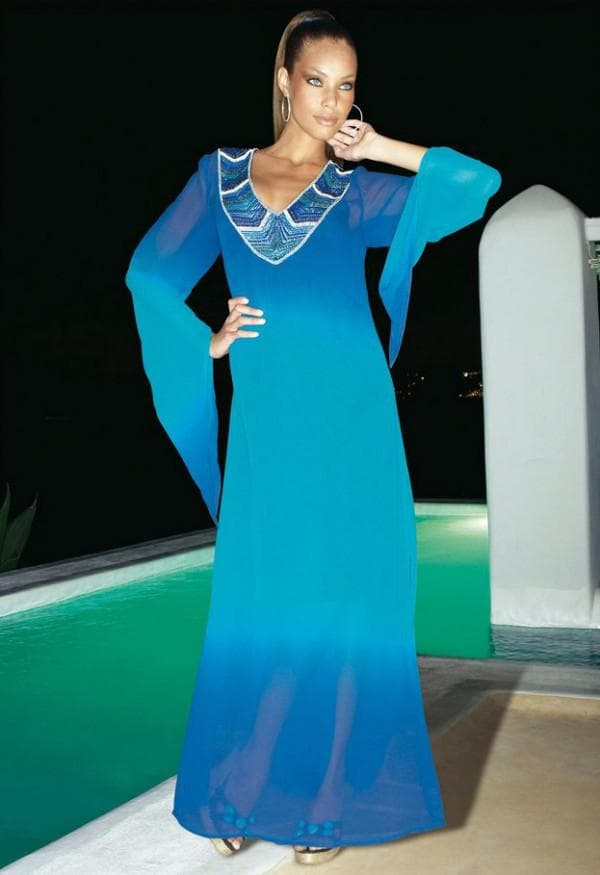 Вечернее пляжное платье-туника