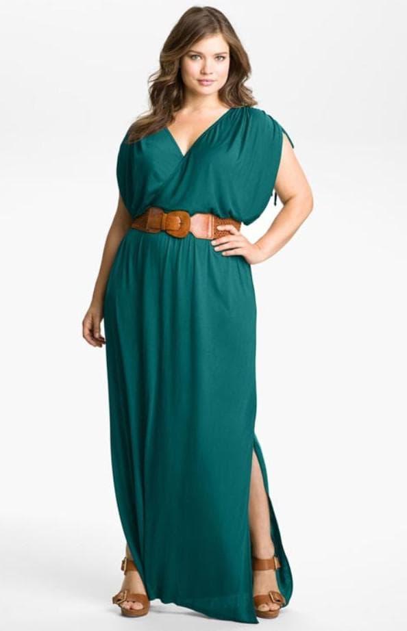 Вечернее платье сафари для полных женщин
