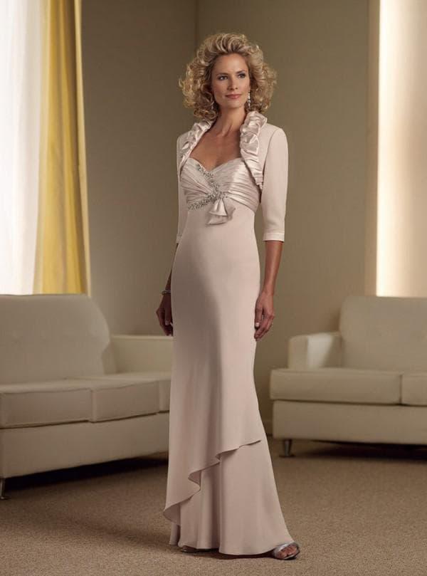 Длинное платье для свекрови на свадьбу