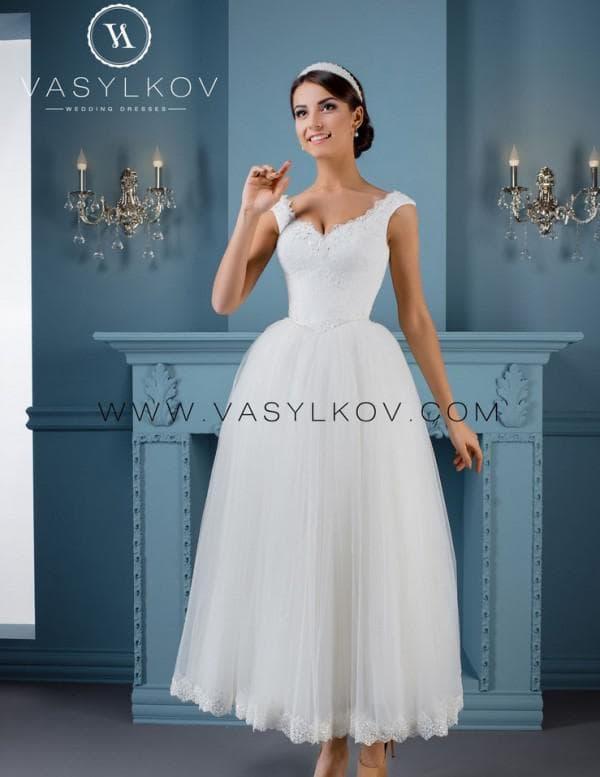 Свадебное платье французской длины