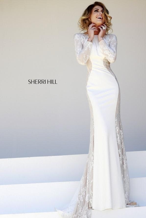 Облегающее свадебное платье в пол
