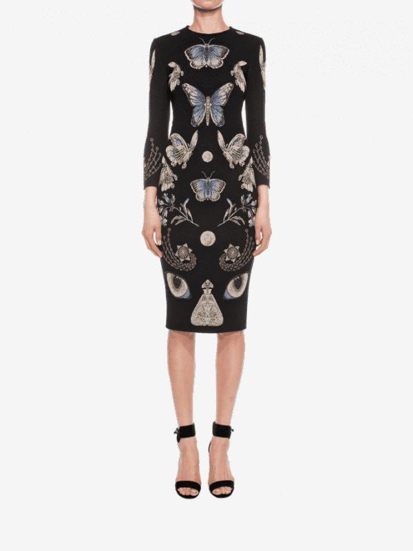 Дизайнерское платье французской длины