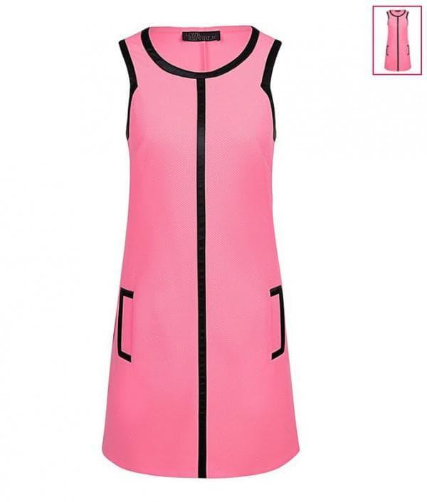 Розове платье без рукавов