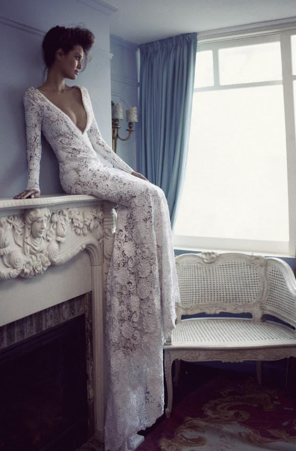 Кружевное бохо платье для невесты