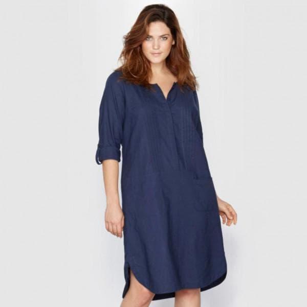 Платье рубашка для полных
