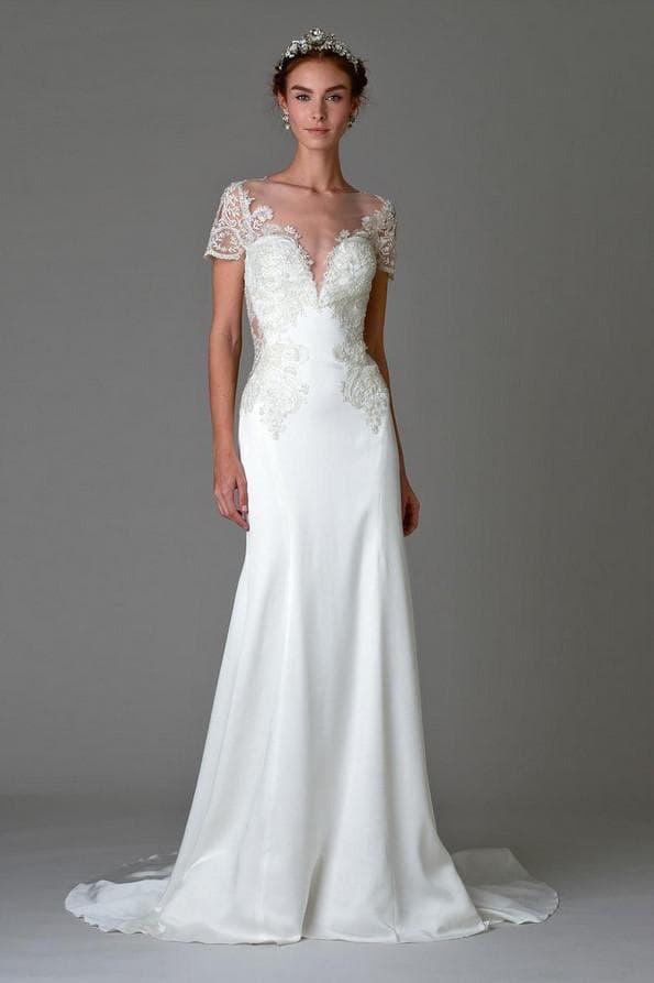 Модное свадебное платье в пол