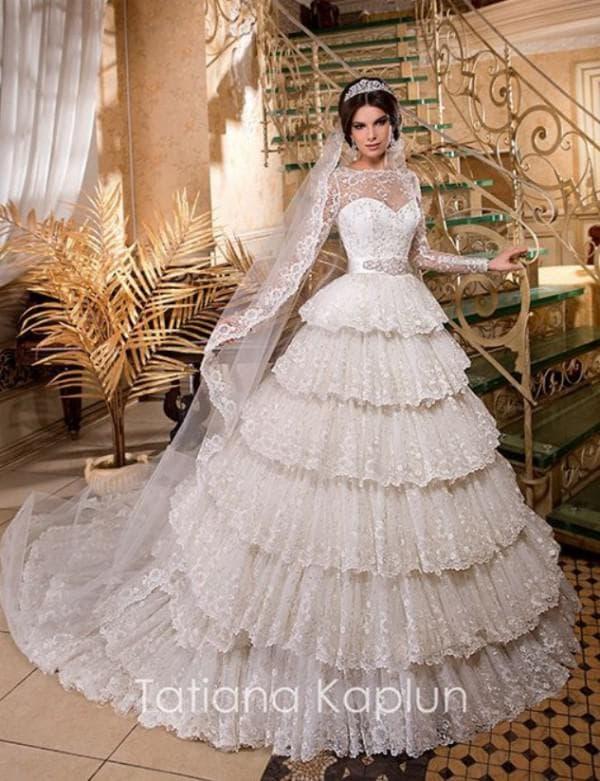 Свадебное платье принцесса от российского дизайнера