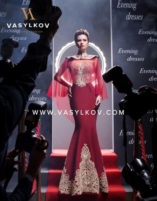 Бордовое вечернее платье Васильков