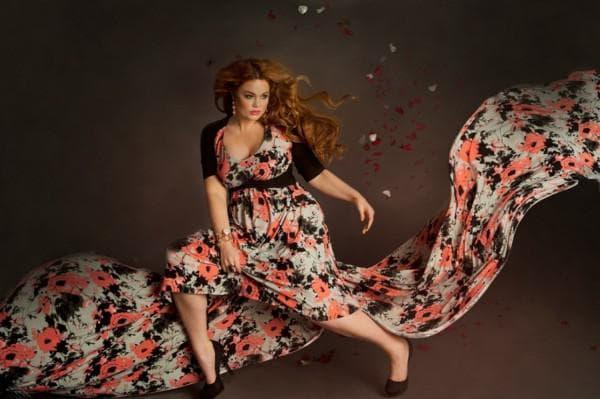 Длинное платье большого размера