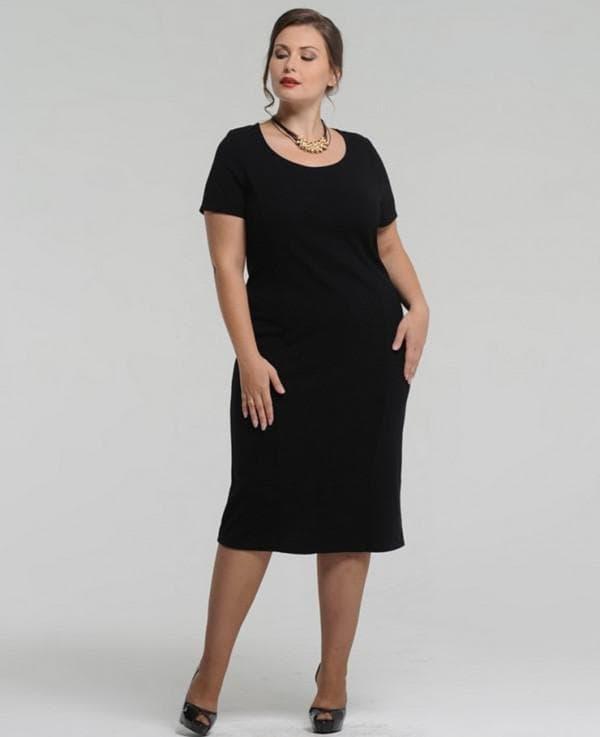Маленькое чёрное платье для полных