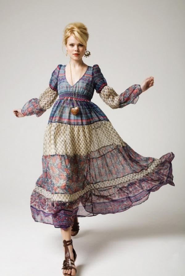 Платье в стиле прованс для полных