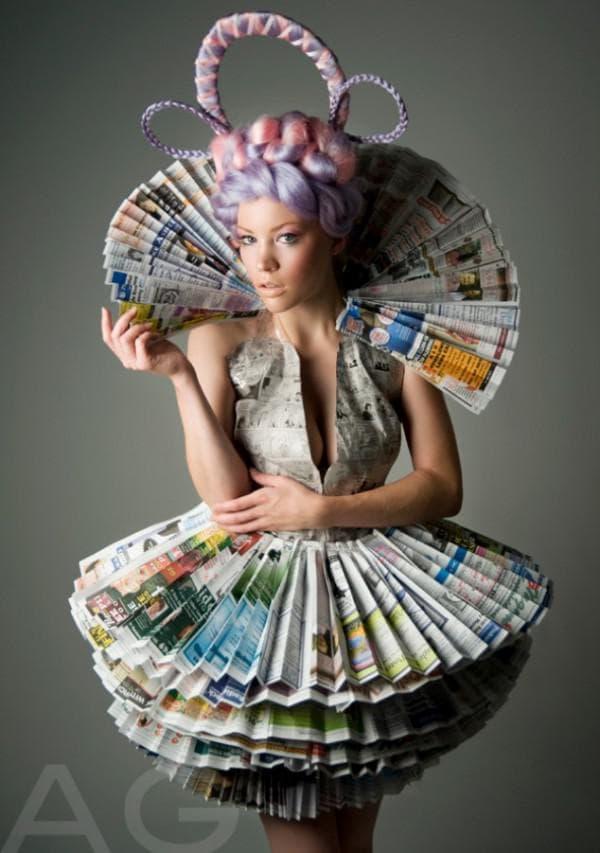 Газетное платье на конкурс