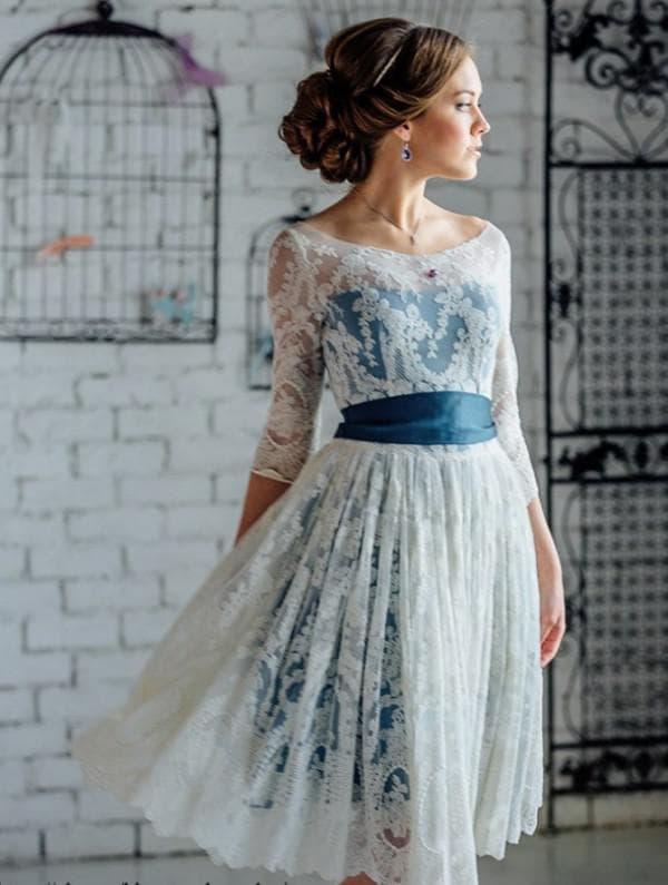 Короткое платье в стиле прованс