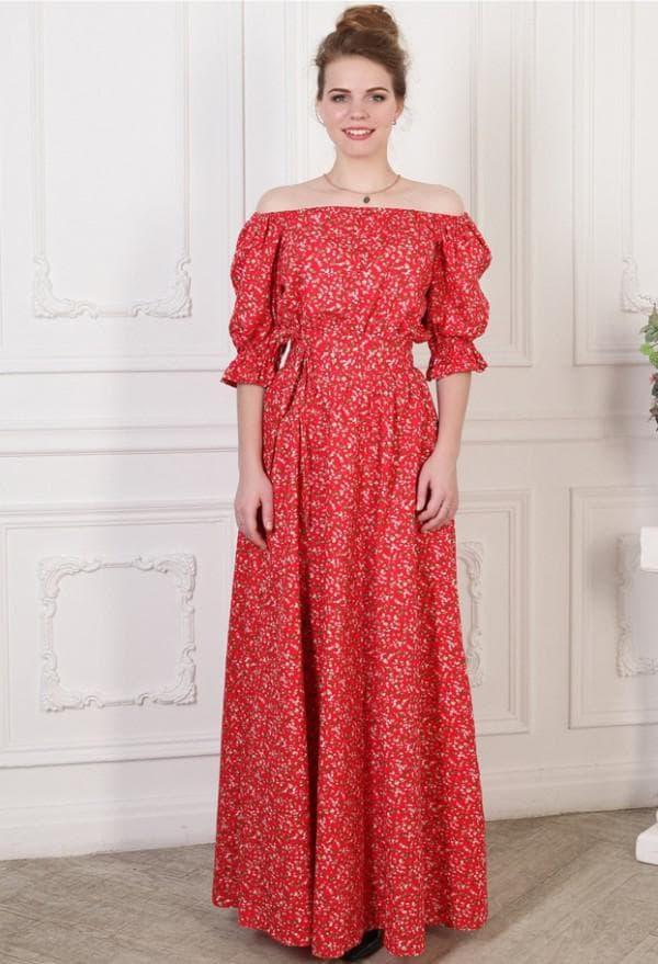 Красное платье барышня крестьянка
