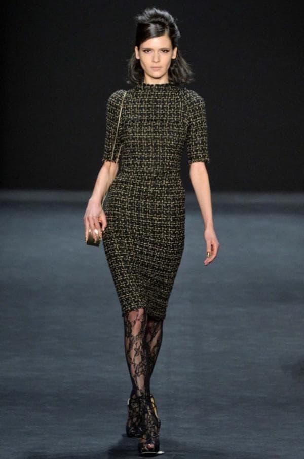 Модное офисное платье