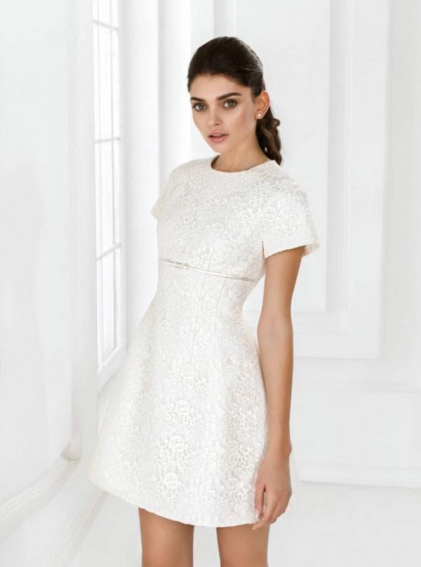 Свадебное платье мини недорогое