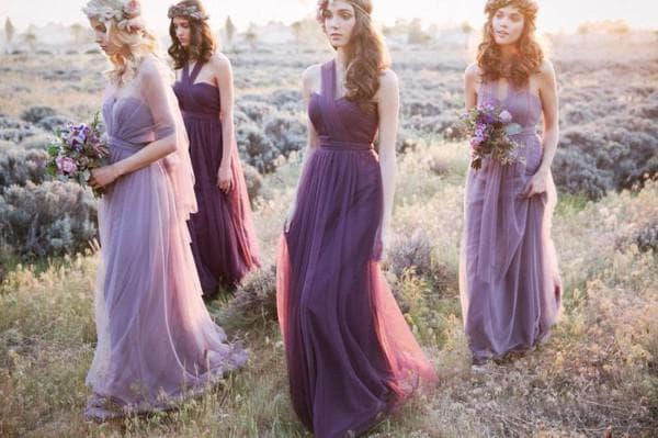 Платья для подружек невесты в стиле прованс
