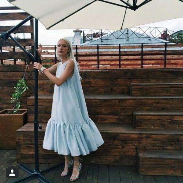 Как удлинить платье воланами