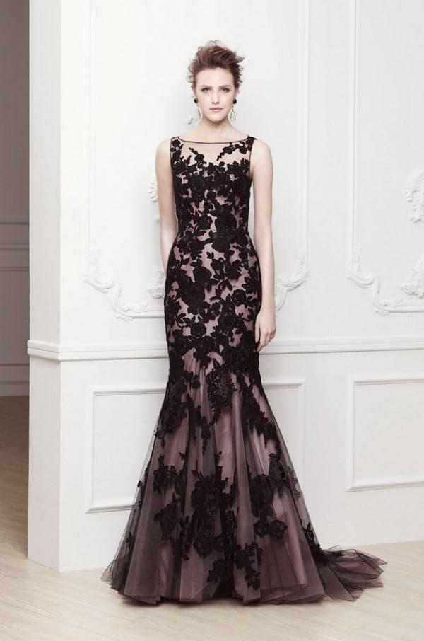 Нежное платье русалка в пол
