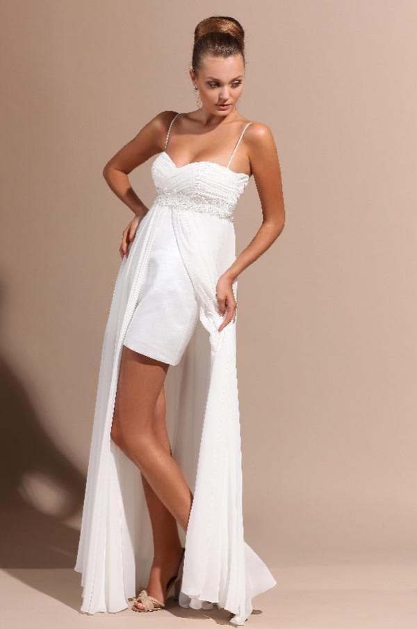 Как удлинить короткое свадебное платье