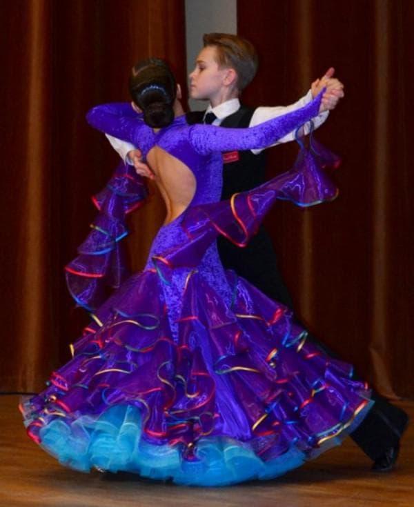 Платье для спортивно-бальных танцев для девочек