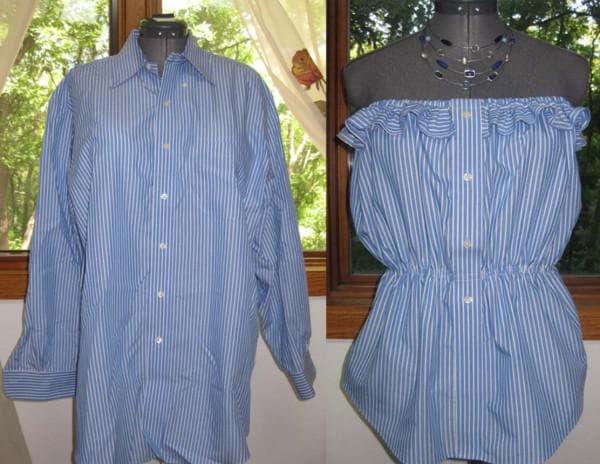 Платье своими руками из мужской рубашки