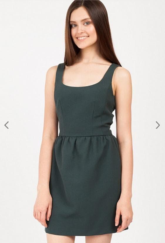Зеленое платье мини