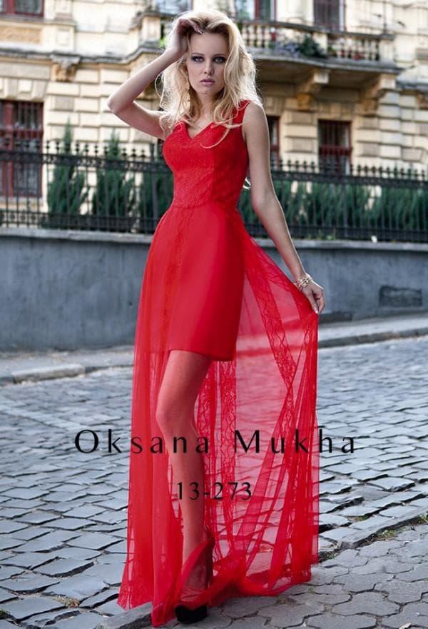 Короткое красное платье на выпускной