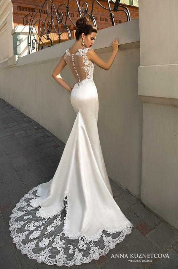 Свадебное платье рыбка из атласа