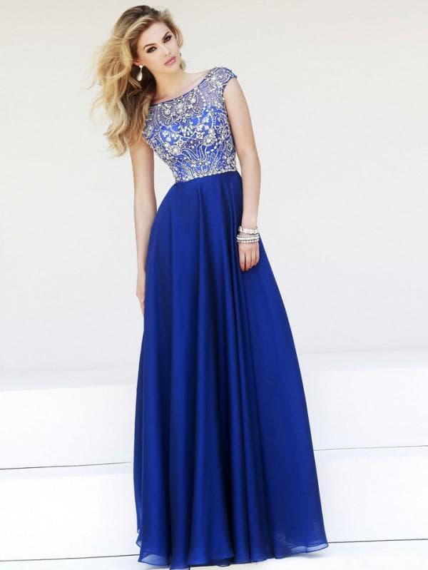 Красивое платье в пол на выпускной