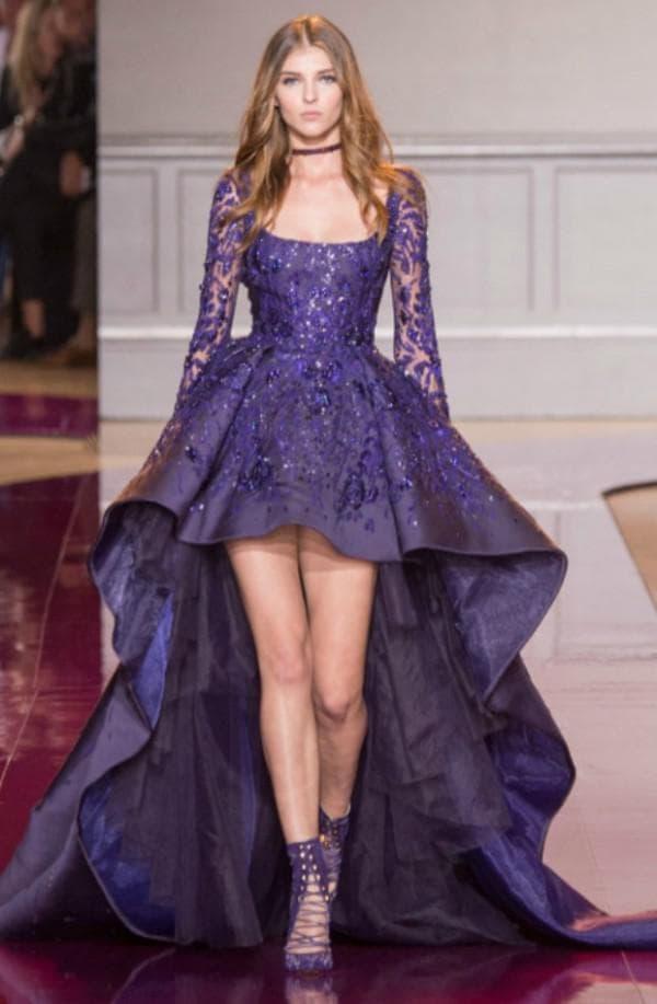 Лучшее вечернее платье с асимметричной юбкой