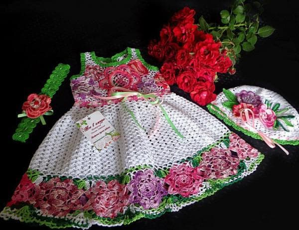 Детское платье ирландское кружево