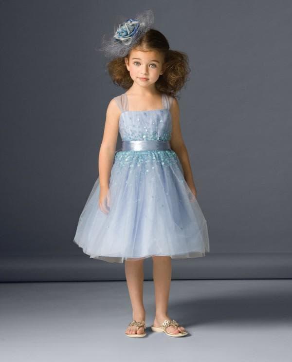 Голубое платье для детского выпускного