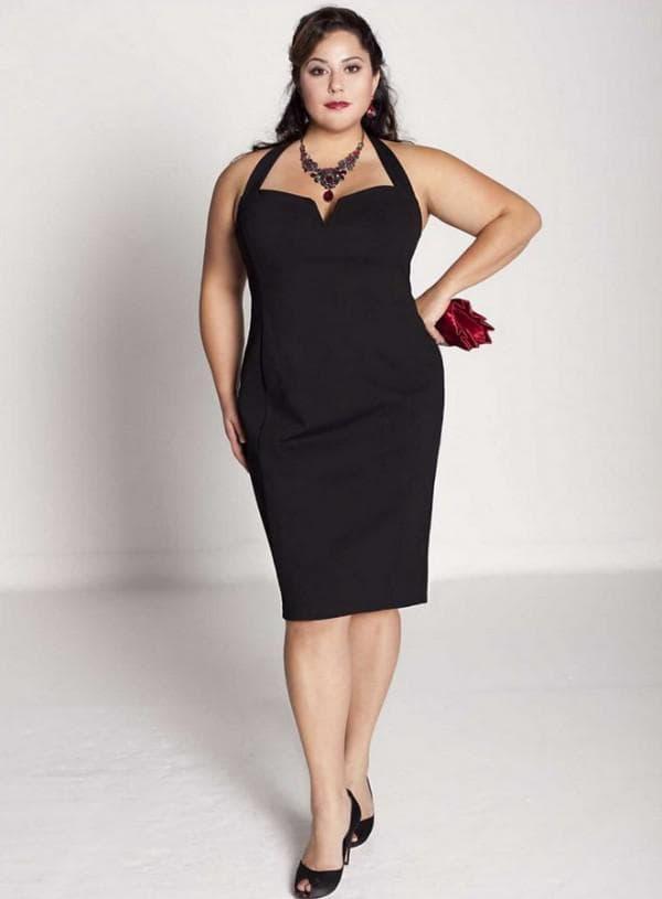 Черное платье для полной женщины