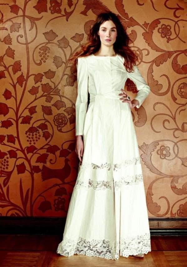 Венчальное платье в русском стиле
